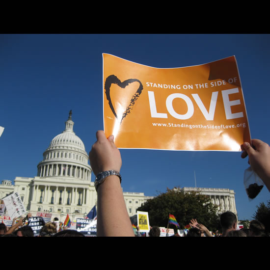 Standing on the Side of Love at the U.S. Capitol in Washington D.C.