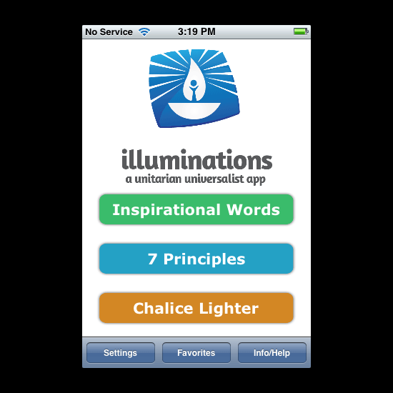 Illuminations App Screenshot
