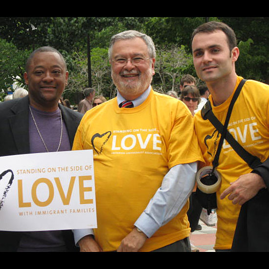 UUA Presidential Candidate at Public Witness Event. Photo by Helio Fred Garcia.