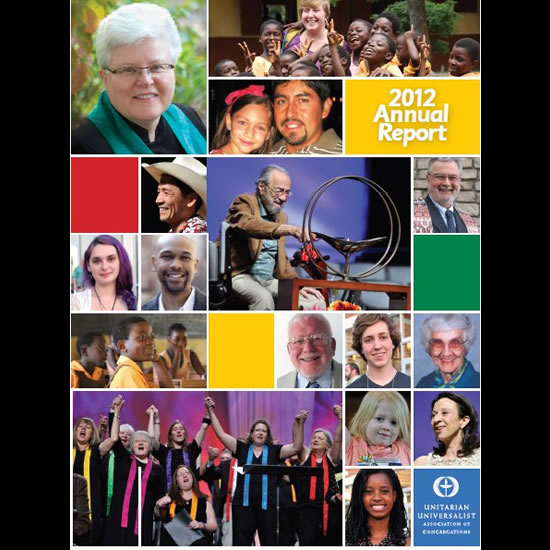 Cover of the UUA's 2012 Annual Report