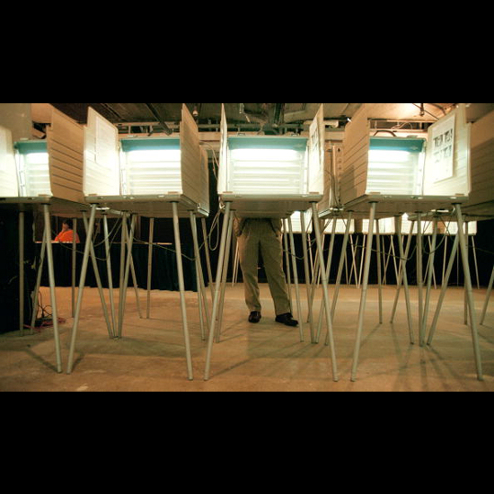 Voting booths. Getty Images.