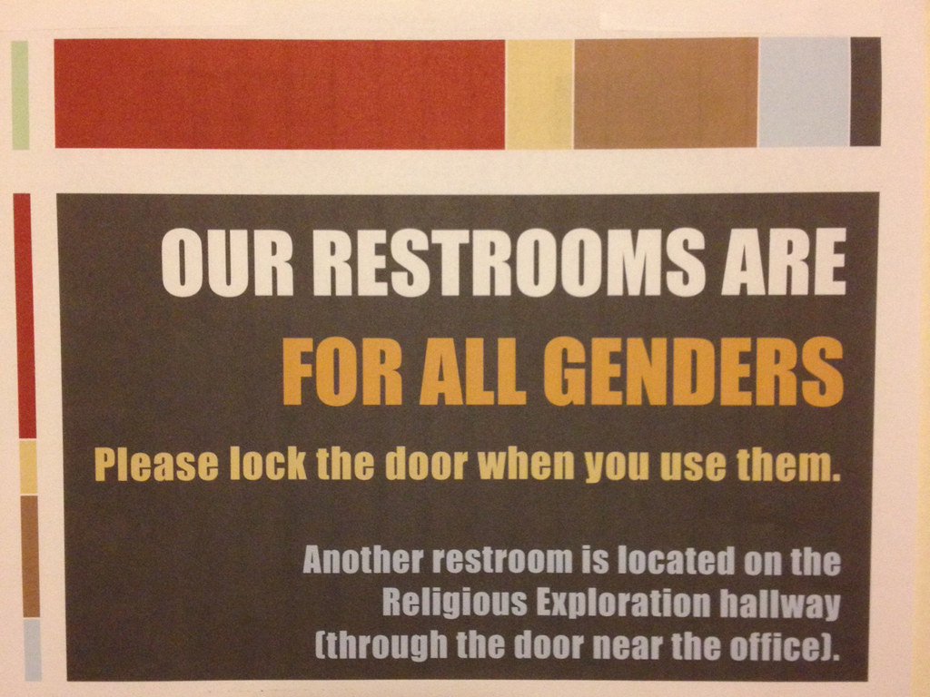 Bathroom out of order sign - Examples Of Bathroom Signs That Affirm Gender Diversity