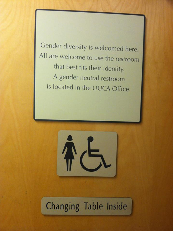 Bathroom Signs For Business gender neutral bathrooms | uua