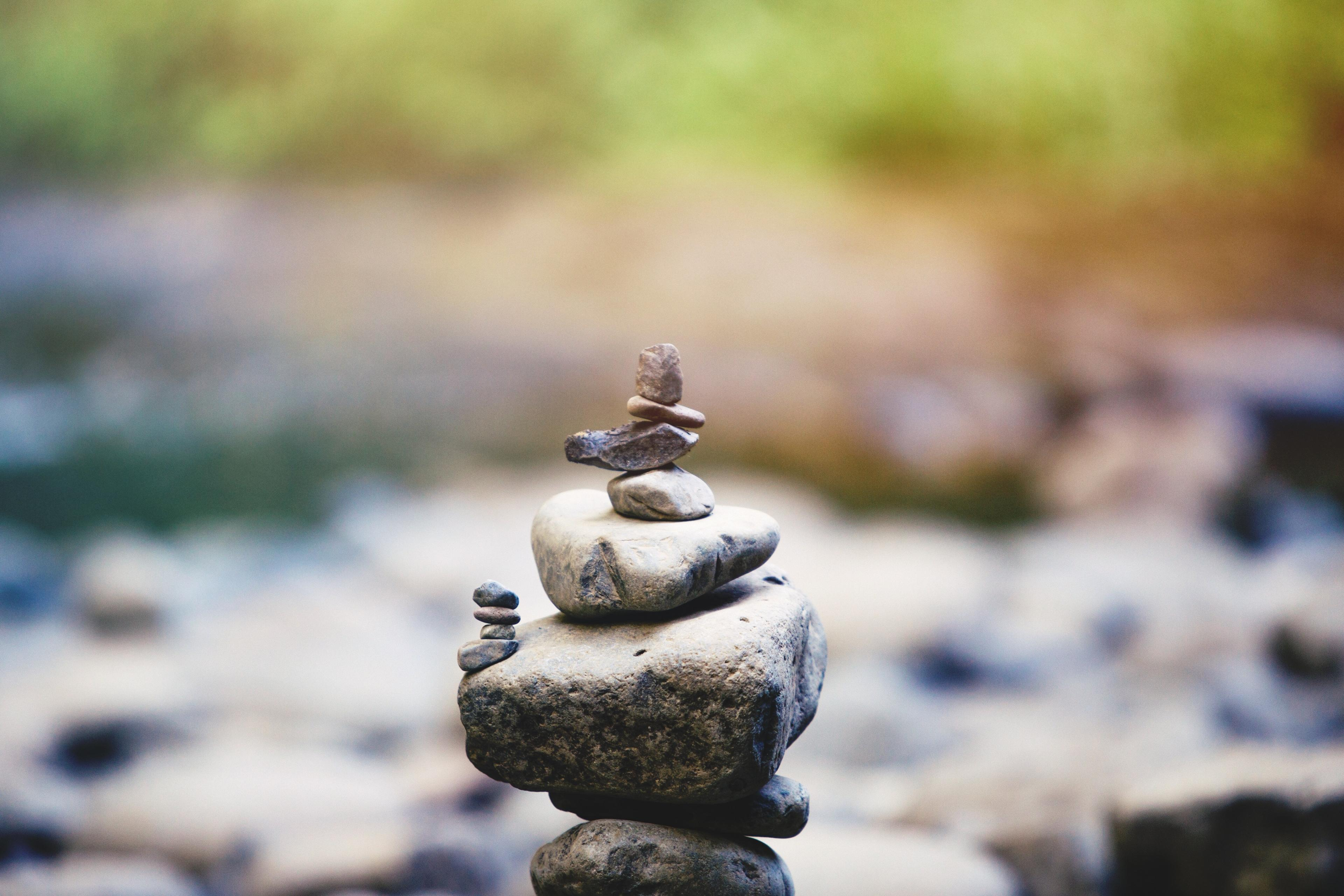 A stack of stones, with smaller stacks (of smaller stones) jutting off