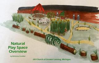 UU Church of Greater Lansing (Michigan) Natural Play Space