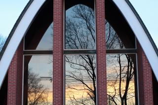 Arch and windows at Murray UU Church