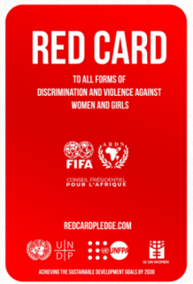 """Red Card"" to end all forms of discrimination and violence against women and girls"