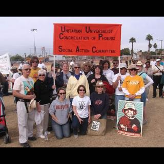UU Church of Tucson participates in Arpaio Rally.