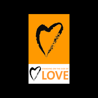 Standing on the Side of Love (logo, with stylized heart)