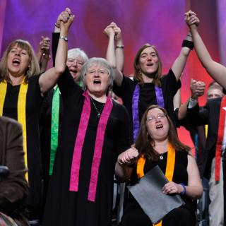 2012 General Assembly Choir singing at Closing Ceremony.