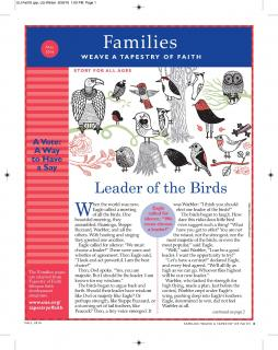 Families insert in Fall 2016 UU World magazine - page 1