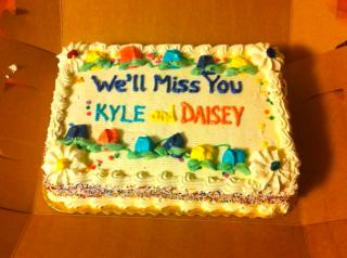 Kyle and Daisy cake