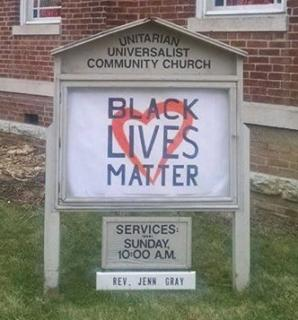 UU Community Church of Hendricks County, Danville, IN, proclaims that Black Lives Matter