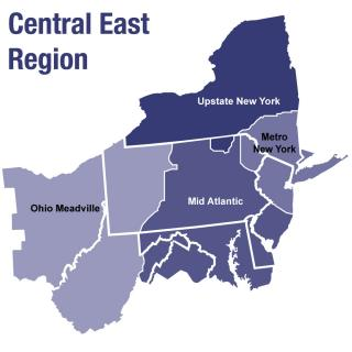 Central East Region youth programming areas