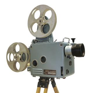 Old style projector with 2 film reels