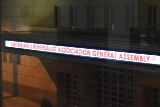 UUA General Assembly announced on lightboard