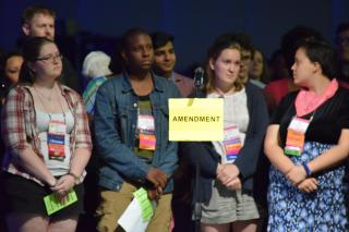 Youth Caucus proposes an ammendment at General Assembly