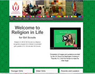 Front page of Girl Scouts Religion in Life