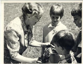 Josephine Gould with children