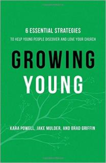 "Cover of the Book ""Growing Young: Six Essential Strategies to Help Young People Discover and Love Your Church by Kara Powell, Jake Mulder, Brad Griffin."