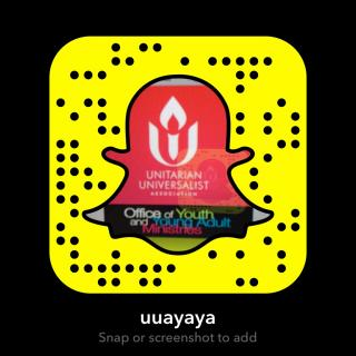 Image and snapcode for the YaYA snapchat