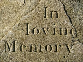 """in loving memory"" etched in stone"