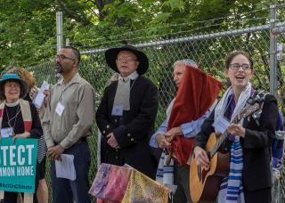 Interfaith climate justice action in Massachusetts.