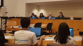 Panelists addressing intergenerational poverty in the United Nations event