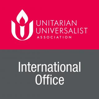 Graphic of logo for UUA International Office.