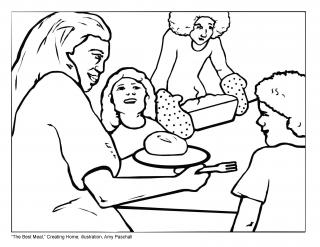 Tapestry of Faith, Creating Home, Session 11 JPEG illustration for The Best Meal