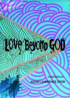 Book cover Love Beyond God with bold swirling colors