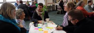 A congregation discerns their vision in a World Cafe