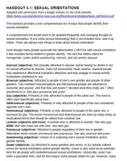 Sexual orientations - definitions and explanations
