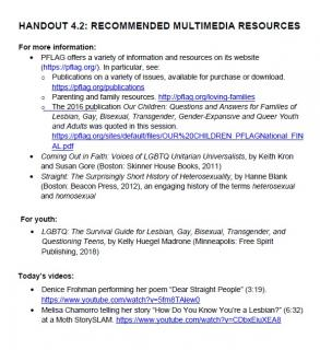 Recommended multimedia resources for Session 4