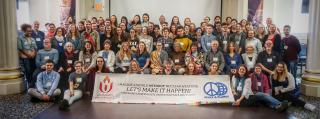 Group photo of the participants in the 2017 Intergenerational Spring Seminar, Arm in Arm: Interfaith Action to Disarm Our Planet