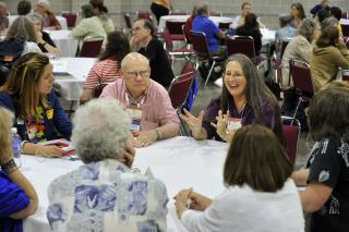 A group of seven meets for deep conversation at General Assembly 2014.