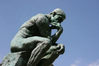 Photo of Rodin's sculpture of The Thinker