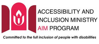 UUA Accessibility and Inclusion Ministry AIM Program Logo