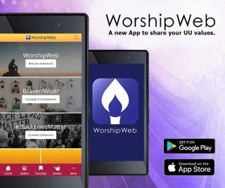 """WorshipWeb: a new app to share your UU values"""