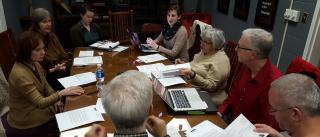 A typical congregational board meeting