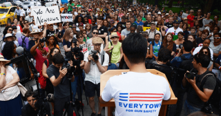 Everytown For Gun Safety activist speaks at rally