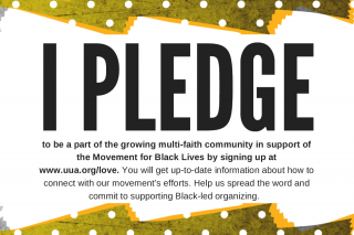 Pledge card distributed at GA 2016 Public Witness
