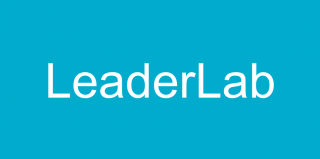 "word ""LeaderLab"" on a blue background"
