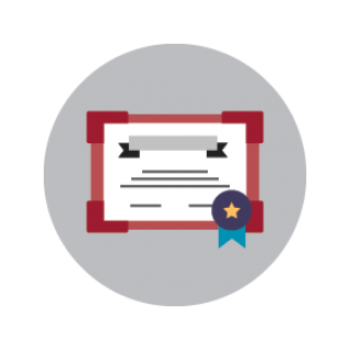 Graphic of a certificate