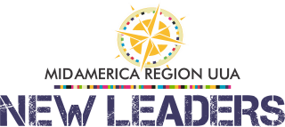 MidAmerica Region UUA New Leaders logo with compass rose