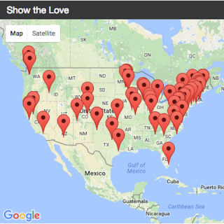 Screenshot of the Show the Love map