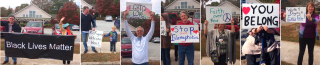 Members of UU Metro Atlanta North Congregation, Roswell, GA have roadside witness, Nov 2016