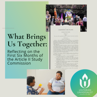 Square What Brings Us Together: Reflecting on the First Six Months of the Article II Study Commission