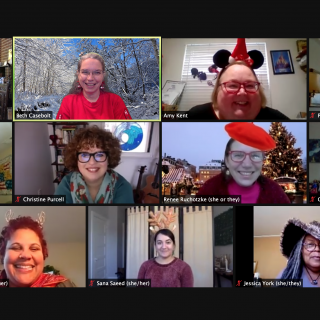 Central East Region Staff Team on zoom