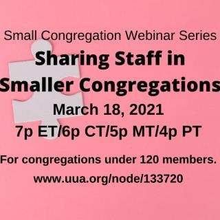 Sharing Staff In Smaller Congregations, March 18, 2021